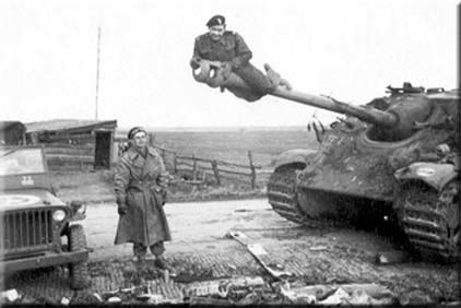 hang from tank gun